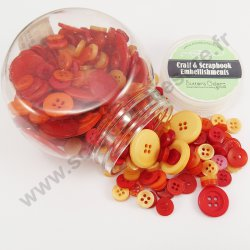 Bouton décoratif - ROUGES - + / - 200 pcs
