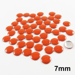 Clou thermocollant rond - ORANGE- 7mm - x 50