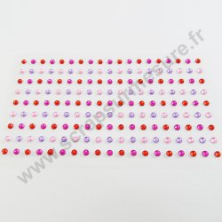 Strass autocollants ronds - AMOUR - 3mm - x 171 strass