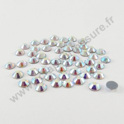 Strass thermocollant qualité Swarovski - AB Cristal - 2mm, 3mm, 6mm