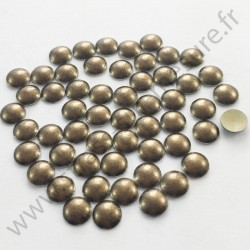 Clou thermocollant rond - METAL BRONZE NACRE - 2mm, 3mm, 4mm, 5mm, 6mm